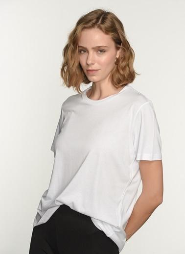 NGSTYLE Ngkss21Ts0001 O Yaka Tshirt Beyaz
